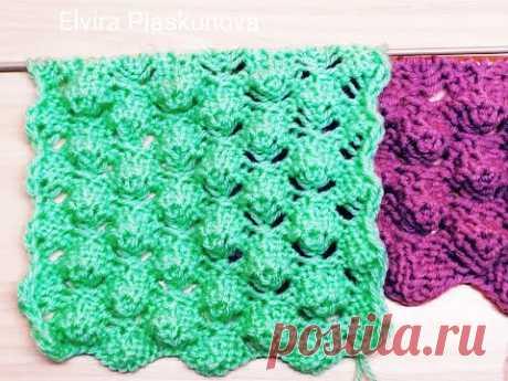 Ажурный узор для свитера, кофты, детских изделий. Вязание спицами.
