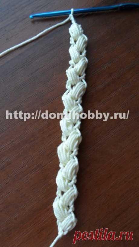 """Вязание крючком шнура """"колосок"""". Подробный урок."""