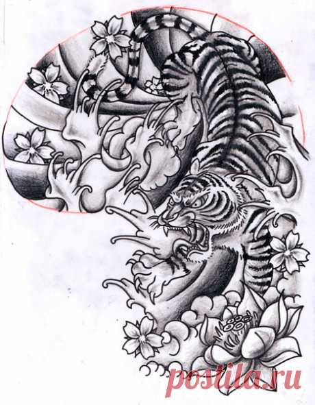 12Oct2011: Oriental inspired Tiger Half Sleeve Design Chris Hatch Tattoo Artist www.inkpottattoo.com info@inkpottattoo.com Copyright Chris Hatch