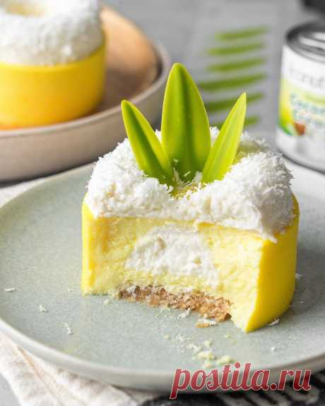 Современные десерты: пирожное «Пина колада» | Andy Chef (Энди Шеф) — блог о еде и путешествиях, пошаговые рецепты, интернет-магазин для кондитеров |