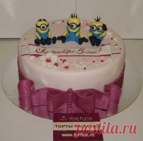 """Детский торт """"Миньоны"""".Вес 3 кг. #миньоны#гадкийя#дети#тортыназаказ#"""