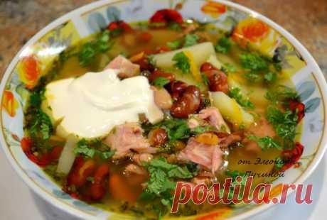 Суп с фасолью | Русская кухня