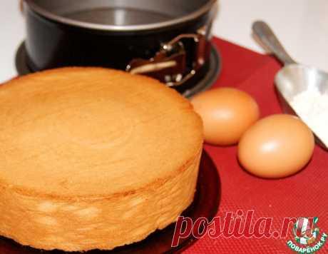 Масляный ванильный бисквит – кулинарный рецепт