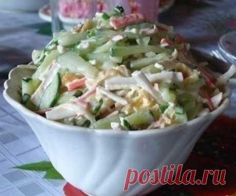 Салат с сыром сулугуни (косичкой) Салат с сыром сулугуни (косичкой) Очень вкусный и, опять же, простой салат, один из любимых в нашей семье! Я долго подбирала к этому салату сыр,