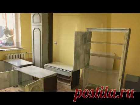 Как Перекрасить переделать Старую Мебель. Реставрация мебели. Перекраска стенки