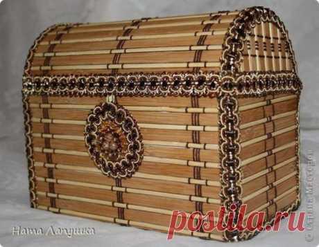Сундучок из деревянной салфетки