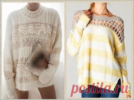 Снова о переделке кофточек и свитеров - 30 примеров в фото | МНЕ ИНТЕРЕСНО | Яндекс Дзен