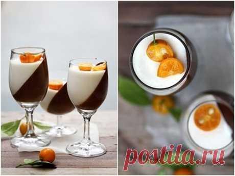 Как приготовить темный шоколад & апельсиновая панна котта - рецепт, ингридиенты и фотографии