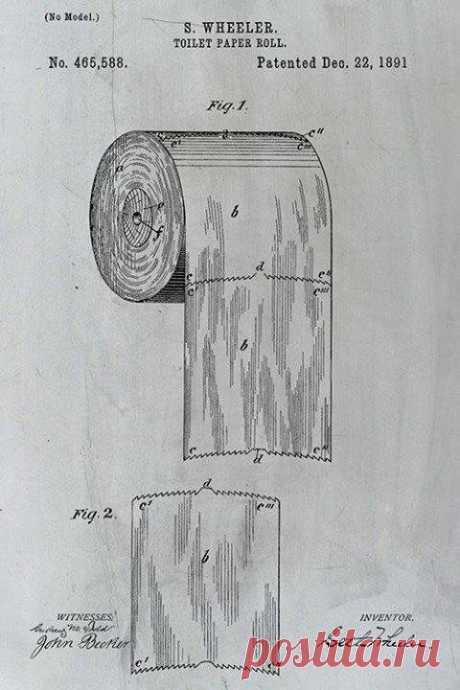 Как правильно вешать туалетную бумагу, к себе или от себя: патент 1891 года ставит точку в вечном споре   Визуал   Яндекс Дзен