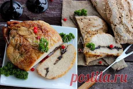 Курица, фаршированная грибами, в духовке: рецепт с фото | Волшебная Eда.ру
