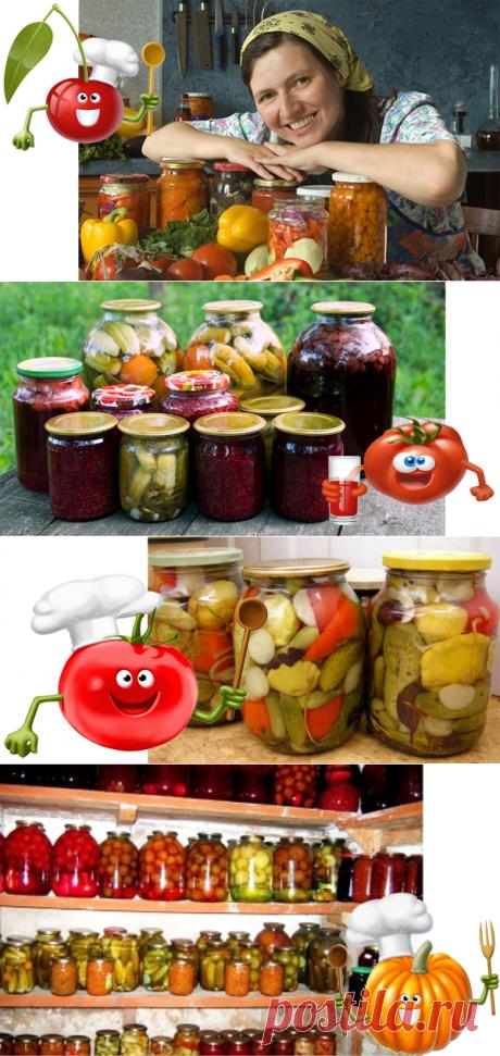 En el verano, cuando hay en abundancia unos frutos frescos y hortalizas, es posible hacer y los acopios de casa — la confitura, las marinadas, la salazón.