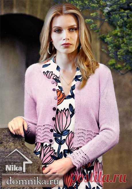 Описание вязание женской кофты спицами весна 2019 года
