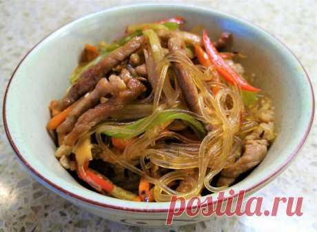 Фунчоза с мясом и овощами | Поделки, рукоделки, рецепты | Яндекс Дзен