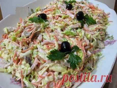 """Вкусный салат """"Анастасия"""" - ПАЛЬЧИКИ ОБЛИЖЕШЬ. Вкуснотища необыкновенная!"""