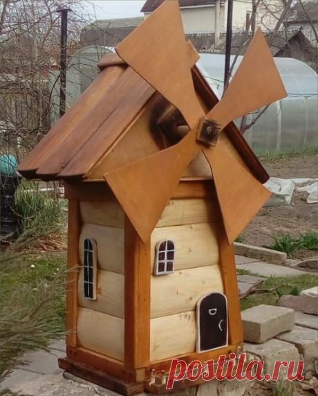 Декоративные мельницы из дерева | | Для тех, кто любит работать с деревом