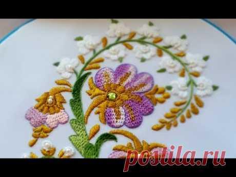 Hand EMBROIDERY :  Lace stitch |  Вышивка : ПЛЕТЕНИЕ ИГЛОЙ