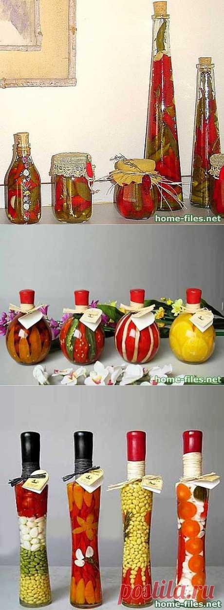Декоративные бутылочки для кухни своими руками.