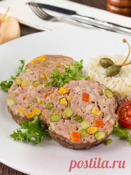 "Рецепт мясного рулета ""Конфетти"" на Вкусном Блоге"