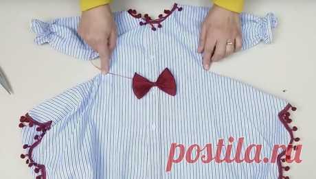 Модное платье из старой рубашки - Сделай сам - медиаплатформа МирТесен
