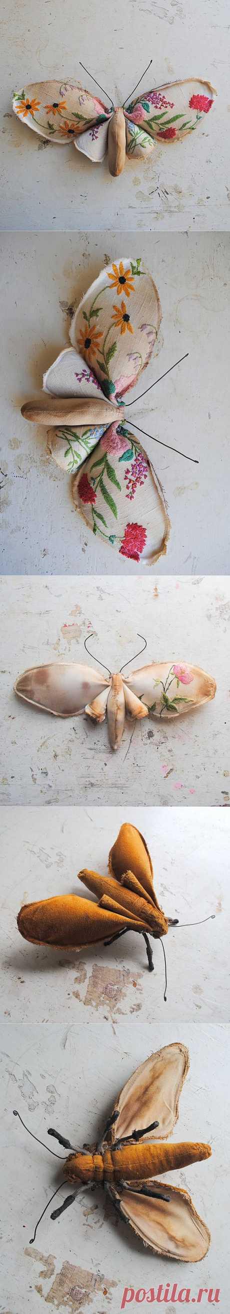 Вышитые бабочки (подборка) +1 / Украшения и бижутерия / ВТОРАЯ УЛИЦА