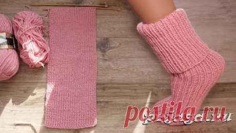 Носки для новичков на двух спицах