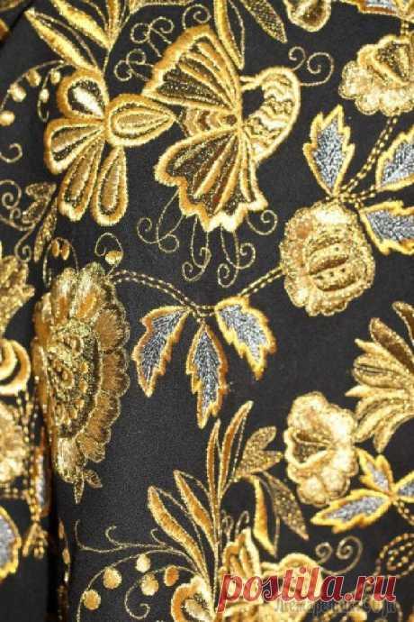 Православная тема в народном искусстве России. Золотная вышивка