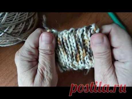 Резинка крючком соединительными столбиками (боснийское вязание)