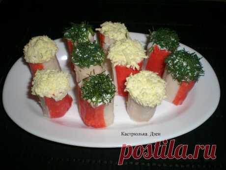 Как легко развернуть крабовые палочки и быстро приготовить из них отличную закуску к праздничному столу   Кастрюлька   Яндекс Дзен