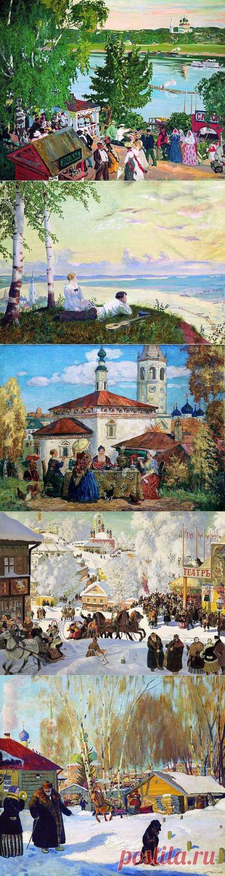 Русский живописец, график и театральный художник Борис Кустодиев.