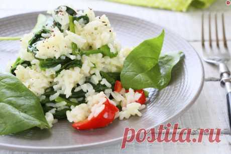 Диетический гарнир: рис с сельдереем и шпинатом – Рецепты – Домашний