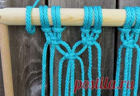 Плетеный гамак для дачи или балкона