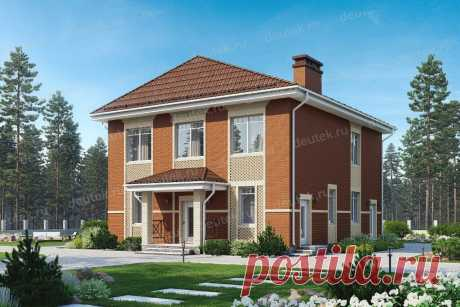 Готовый проект двухэтажного дома 204 м2 в европейском стиле.