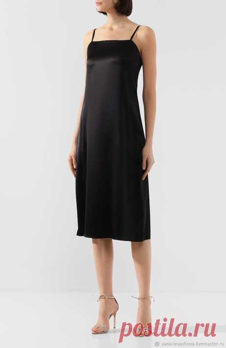Платье комбинация из шелка бежевое,пудровое,белое,черное – заказать на Ярмарке Мастеров – LY12WRU | Платья, Москва