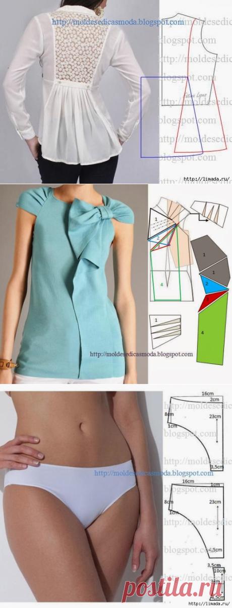 немного моделей блузок.летних сарафанов... с выкройками