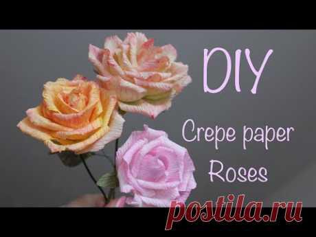 Розы из гофрированной бумаги с окрашиванием лепестков - запись пользователя Anna Makes Flowers (Анна) в сообществе Работа с бумагой в категории Другие поделки из бумаги и картона