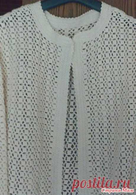 Летний кардиган крючком - Вязание - Страна Мам