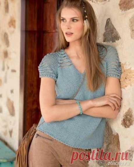 Пуловер с короткими оригинальными рукавами   otlicno.ru