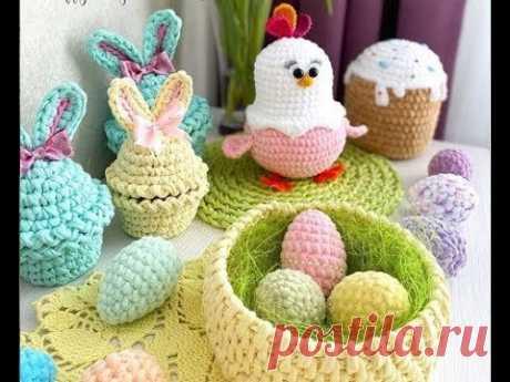 Красивые корзинки зайчики цыплята - вязаные идеи к Пасхе из трикотажной пряжи. Crochet Easter ideas - YouTube Красивые вязаные крючком пасхальные корзинки, зайчики-кролики, курочки-цыплята, подставки под яйца - все из трикотажной пряжи. Видео подборка фото идей для вязания и вдохновения к Пасхе. #вязаниекпасхе #вязаниекрючкомидеи #вязаниекрючкомкпасхе #CrochetEaster #CrochetEasterideas