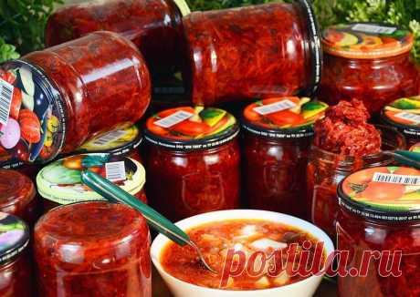 Зимой с летним борщом! Три рецепта борщевых заготовок.   DiDinfo   Яндекс Дзен