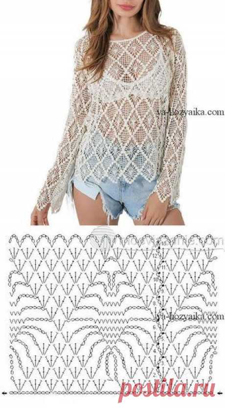 Hollow Out Crochet Cropped Cover-Up