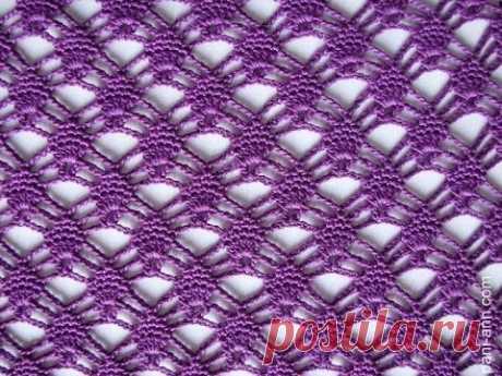 Сиреневый, ажурный узор крючком (beautiful pattern to crochet) (узор#20) - YouTube