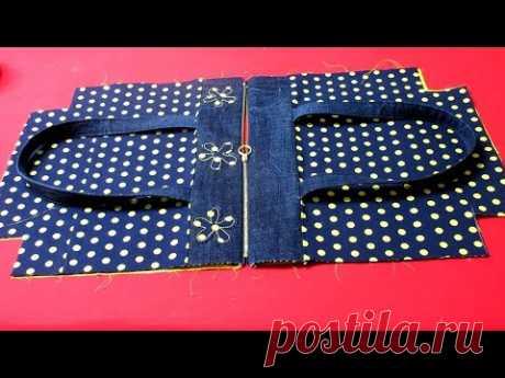 "DIY안입는 바지로""명품백""을 만들어요!/도트 지퍼드 토트백/make a ""luxury bag""/dot zippered tote bag"