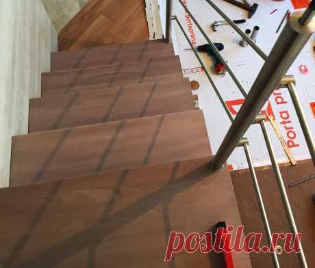 Нержавеющие перила лестницы на больцах