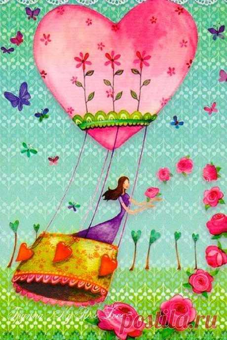 Пусть Твой мир всегда будет именно таким - светлым, радостным и бесконечно счастливым..