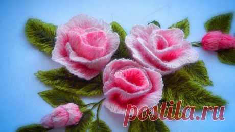 Вышивка гладь * Как вышить розу * Объемная вышивка * #malina_gm #malina_gm здесь самые лучшие видео на Ютубе! Как вышивать розу Здесь вы узнаете, как вышивать трехмерные лепестки для роз. В этом уроке я показываю вышивку ...