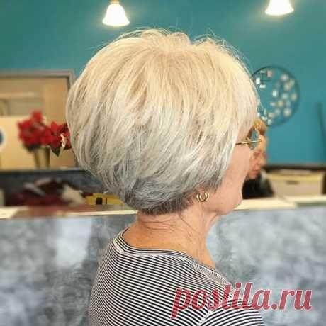 Новые идеи коротких стрижек для дам солидного возраста с тонкими волосами | ladyline.me | Яндекс Дзен