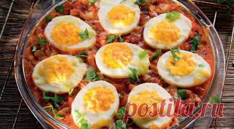Яйца по-кубински, пошаговый рецепт с фото