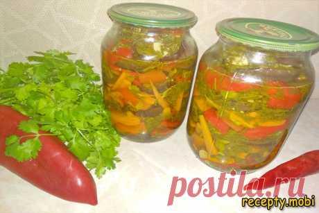 Маринованные баклажаны с овощами (зимние разносолы)