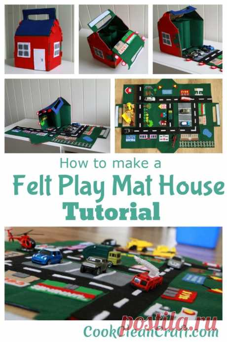 Tutorial: Felt Car Play Mat-House   Cook Clean Craft