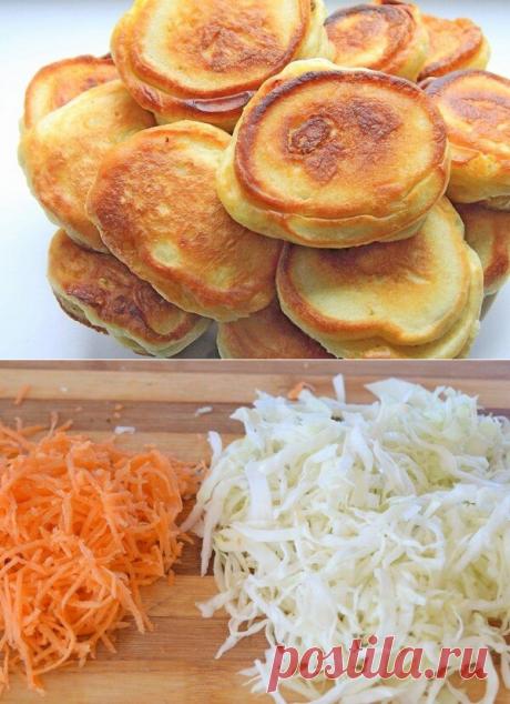 Оладья с капустной начинкой - почти пирожки, только быстрее! | Кулинарные записки обо всем | Яндекс Дзен